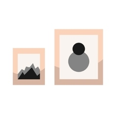Images in frames on wall vector