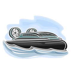 Hovercraft on air-cushion vector