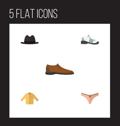 flat clothes set of lingerie male footware vector image