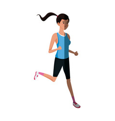 Runner girl training athletic design graphic vector