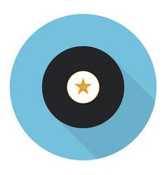 Flat vinyl music record vector