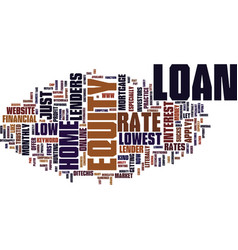 Z home equity loan rate text background word vector
