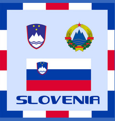 Official government ensigns of slovenia vector