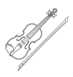 Dark contour fiddle violin vector