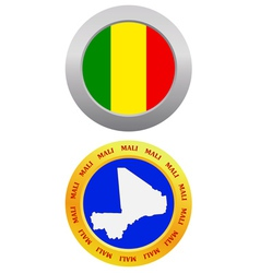 Button as a symbol mali vector