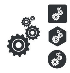Settings icon set monochrome vector