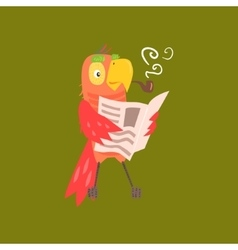 Parrot Reading Newspaper Image vector image