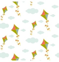 Kite in sky seamless pattern vector