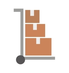 Cart to transport boxes isolated icon design vector