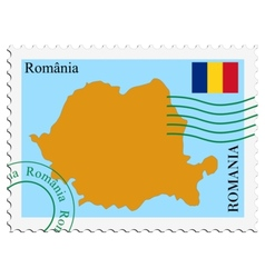 mail to-from Romania vector image
