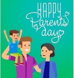 Parents day vintage lettering background vector