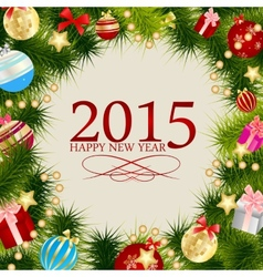 Abstract Beauty Christmas 2015 and New Year vector image vector image