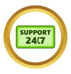 All day support icon vector