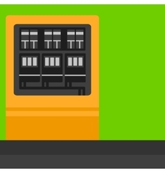 Background of electric switchboard vector