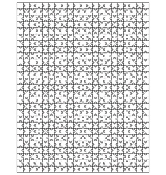 big white puzzle vector image
