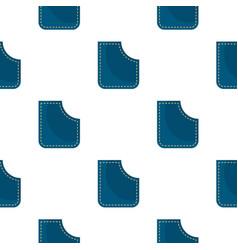 Blue pocket pattern flat vector