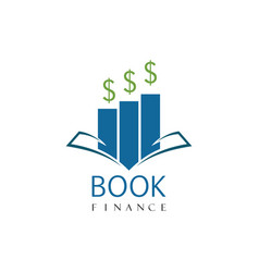 book finance logo vector image vector image