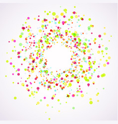 Bright colorful holi paint splatter layout vector