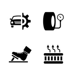 Car parts simple related icons vector
