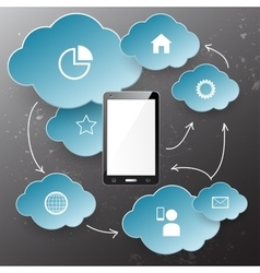 Cloudscape and technology vector