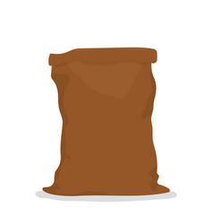 Empty burlap sack vector