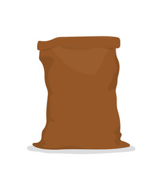 empty burlap sack vector image
