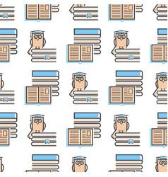 flat design outline seamless pattern background vector image