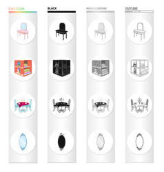 Furnishings amenities style and other web icon vector