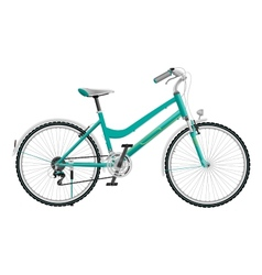 Ladys cyan sports bike vector