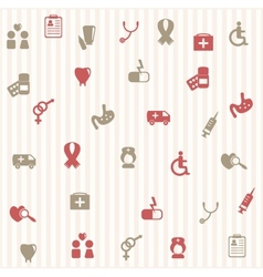 Medical seamless pattern vector image vector image