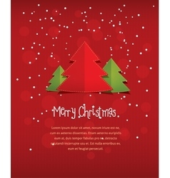 Merry christmas red postcard vector