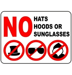 No sunglasses sign on white background vector image