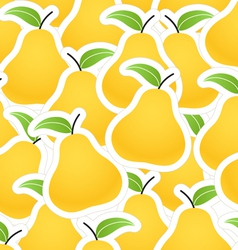 Orange pear seamless background vector image vector image