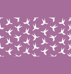 origami hummingbird seamless pattern vector image