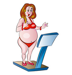 Overweight woman vector