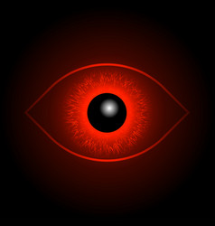 Red eye ball vector