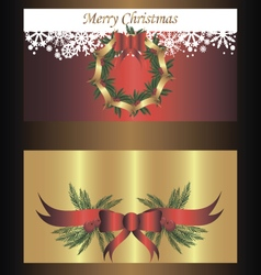 Set of two separated banners for christmas vector