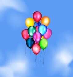 Sky and balloons vector