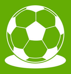 soccer ball icon green vector image vector image