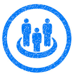 Social group rounded grainy icon vector