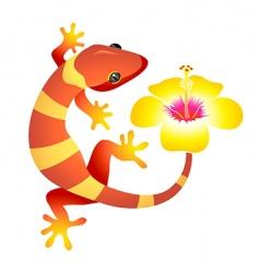 spa gecko vector image vector image