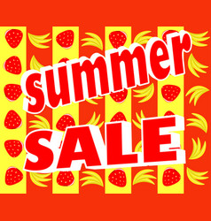 summer stickers with sale messages vector image