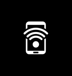 Wi-fi hotspot icon flat design vector