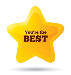You are the best icon customer service award vector