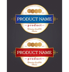 Product label design template vector