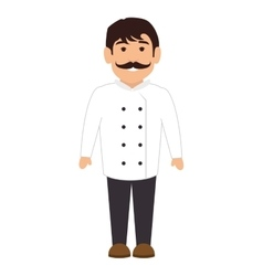 Chef character isolated icon vector