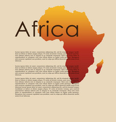 Abstract map of africa vector