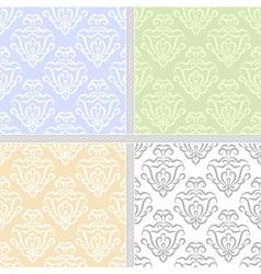 Summer pastel seamless pattern set vector image