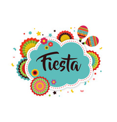 Mexican fiesta background banner vector