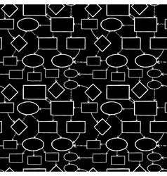 Blackboard chalk mind map seamless pattern vector image